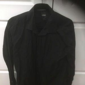 Black dress shirt slim fit